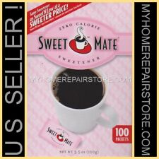 FREE S&H!—SWEET MATE—COFFEE,TEA,CEREAL SWEETENER—100 PACKETS—GENERIC SWEET N LOW