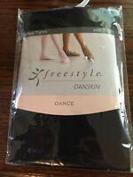 Danskin Freestyle Dance Footed Tights Black - Size 7-10 (FK1431)