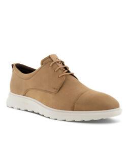ECCO CS20 Hybrid Men Derby Shoes Camel/Cashmere Cap Toe Oxford 633104 60012
