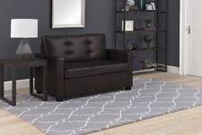 Loveseat Sleeper Sofa Memory Foam Mattress Brown Couch Furniture Modern Twin Bed