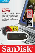 SanDisk 16GB Cruzer Ultra USB 3.0 100MB/s Flash Thumb Pen Drive SDCZ48-016G-U46