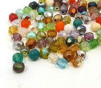 150 Preciosa Glasschliffperlen 3mm Feuerpoliert Facettiert Mix Perlen DIY X276#3