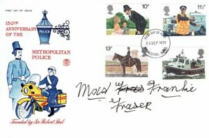 MAD Frankie FRASER Signed Autograph First Day Cover FDC COA AFTAL