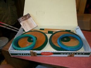 Sportcraft Quoit Set Original Box and instructions, Unused 1960's Vintage
