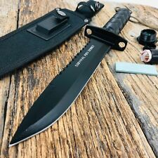 "14"" Stainless Steel Survival BOWIE Knife with Sheath Heavy Duty HUNTING T"