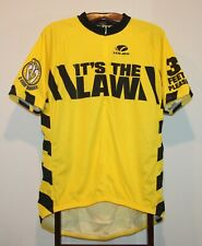 VOLER IT'S THE LAW 3 FEET PLEASE YELLOW & BLACK CYCLING JERSEY SIZE 3XL
