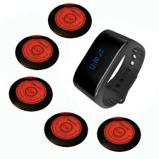 SINGCALL Wireless Waiter Calling System 1 Waterproof Watch, 5 One-key Pagers