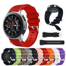 Samsung Galaxy Watch 42mm 46mm Gear S2 Classic SportS3 Armband geriffelt Silikon