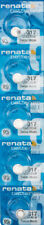 5 x Renata 317 Watch Batteries, SR516SW Battery   Shipped from Canada