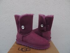 UGG PORT BAILEY BUTTON BLING SUEDE/ SHEEPSKIN BOOTS, WOMEN US 7/ EUR 38 ~NIB