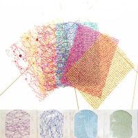 Glitter 3D Lace Mesh Net Line Nail Art Sticker Tips DIY Manicure Decals Decor