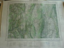 CARTE IGN  1/ 50000 - 1942 à 1957 - feuille SAINT RAMBERT - HAUTEVILLE-LOMPNES