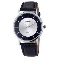 Luxury Geneva Ladies Fashion Retro Dial Leather Analog Quartz Wrist Watches GIFT