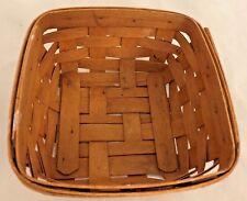 """Honey Brown 3X6.5X6.5"""" Longaberger Basket - Marked - Mg"""