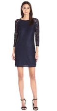 Laundry by Shelli Segal 250$ 3/4 Sleeve Lace party  Dress navy size 4