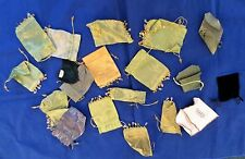 LOT OF 14 ORNAMENTAL BAGS-WITH BEADS-BONUS-6 MORE BAGS-FOR JEWELRY, CLIPS, ETC