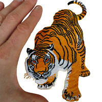 Tiger Patch Iron Sew On Clothes Bag T Shirt Animal Embroidered Badge Applique