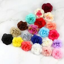 20-100Pcs Bulk Artificial Silk Flower Heads Simulation Small Rose Fake Floral