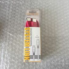 VINTAGE # NINTENDO GAMEBOY POCKET/COLOR SYSTEM LINK CABLE PINK #NIB