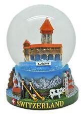 Esfera de nieve XL suiza Lucerna 11 cm!! snowglobe suisse souvenir