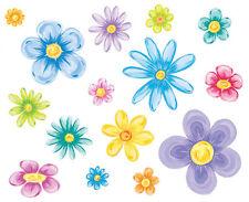 Tatouage Groovy Flowers Dry rub transfer