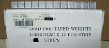NOS Wheel Weights Pre-taped Lead Weights 1/4Oz 7mg 12 Piece Strips 08-0064
