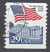 USA Briefmarke gestempelt 29c Fahne Flagge White House Rundstempel / 425