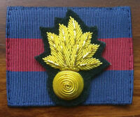 Grenadier Guards Officers Embroidered Cap Badge & Backing