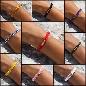 Authentic Blessed Thai Buddhist Wristband Handmade Karma Bracelet Lucky Black