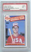 1985 Topps #401 Mark McGwire RC Olympic Baseball Team PSA NM 7