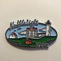 Vintage Rubber Travel Souvenir Magnet Nubble Light Maine