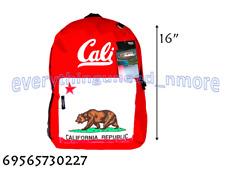 "Track USA - 16""  School Backpack California Republic -TB205CA RED"