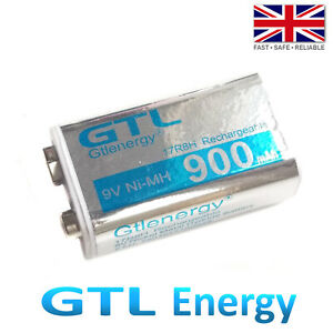 PP3 MN1604 9V Rechargeable 900mAh Ni-MH Battery