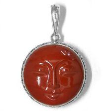 Offerings Sajen 925 Sterling Silver Red Jasper Goddess Pendant