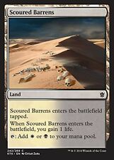 *MRM* FR 4x Scoured Barrens/Landes érodées MTG Khans/fate