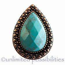 SAMANTHA WILLS BB New Lagoon Turquoise Teardrop Bardot Ring Tag Box & Pouch