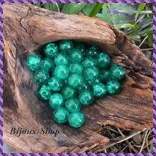 50 Perles de Bohème en verre craquelée 8<9 mm
