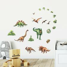 Decowall Watercolour Dinosaur Wall Stickers DS-8034