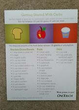 Carbohydrate Counting Fridge Magnet Diabetes Weight Loss Meal Planning FREE SHIP