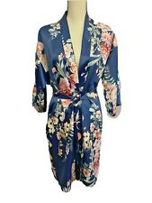 Flora Nikrooz Women's Sexy Floral Robe Navy Blue Large/Extra Large