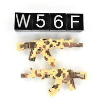 2 Lego Military Army Minifigure Weapon AK47 (Lot W56F)