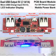 5V 2A Dual USB 18650 Lithium Li-ion Battery Charger Module for DIY Power Bank
