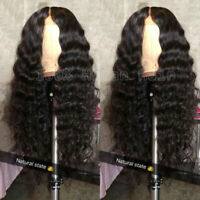 Deep Wave Curly Lace Front Wig Pre Plucked 100% Virgin Brazilian Human Hair Wigs