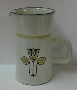 Denby KIMBERLY Creamer Syrup Pitcher YELLOW FLOWER More Items Available
