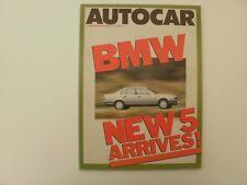 Autocar 1988.BMW 5.Mercedes S.Alfa Sprint-75.Civic CRX.Buick Reatta sports.Show