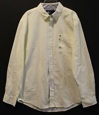 Tommy Hilfiger Mens Yellow Checks Chest Pocket Button-Front Shirt NWT Size XL
