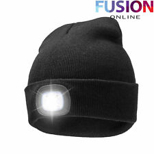 Led Light Cap Beanie Hat With 2 Batteries For Hunting Camping Running Fishing