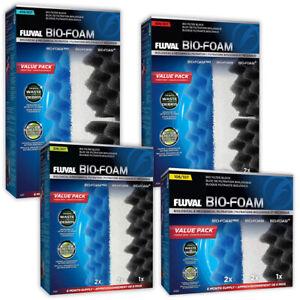 Fluval Bio-Foam Media Packs 107 207 307 407 External Filter Foam Aquarium Fish