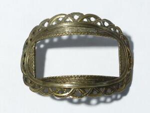 Antique Brass Ornate Pierced Design Shoe Buckle #B1