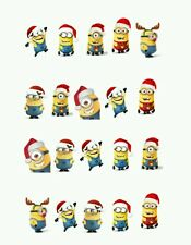 Minion Christmas Nail art water decals  Free Shipping